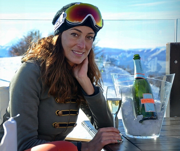Débora Bello en el Ski Point de Chandon en el Cerro Chapelco 2