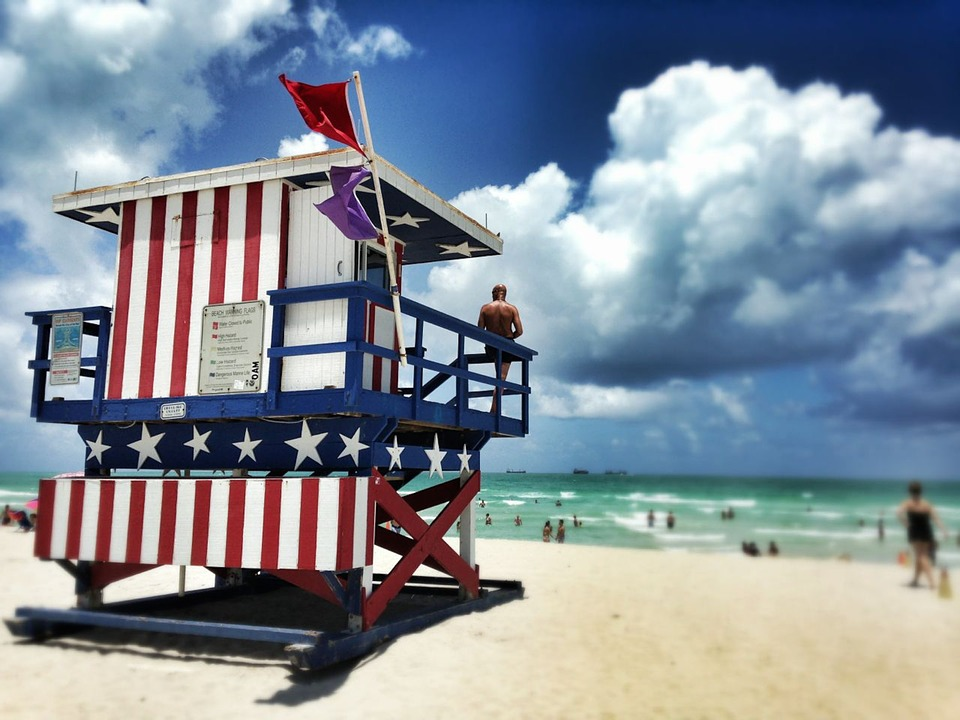 Lifeguard Sunny Safety Miami Beach Surf Ocean