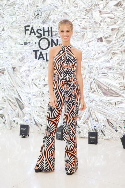Mariana Fabbiani en el Mercedes-Benz Fashion Talk con Custo Barcelona. F...