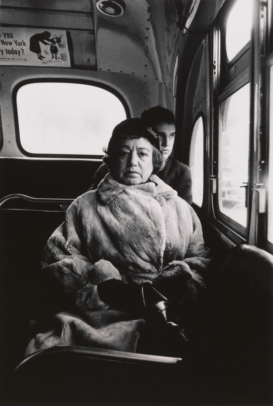Diane Arbus. Lady on a bus, N.Y.C. 1957.