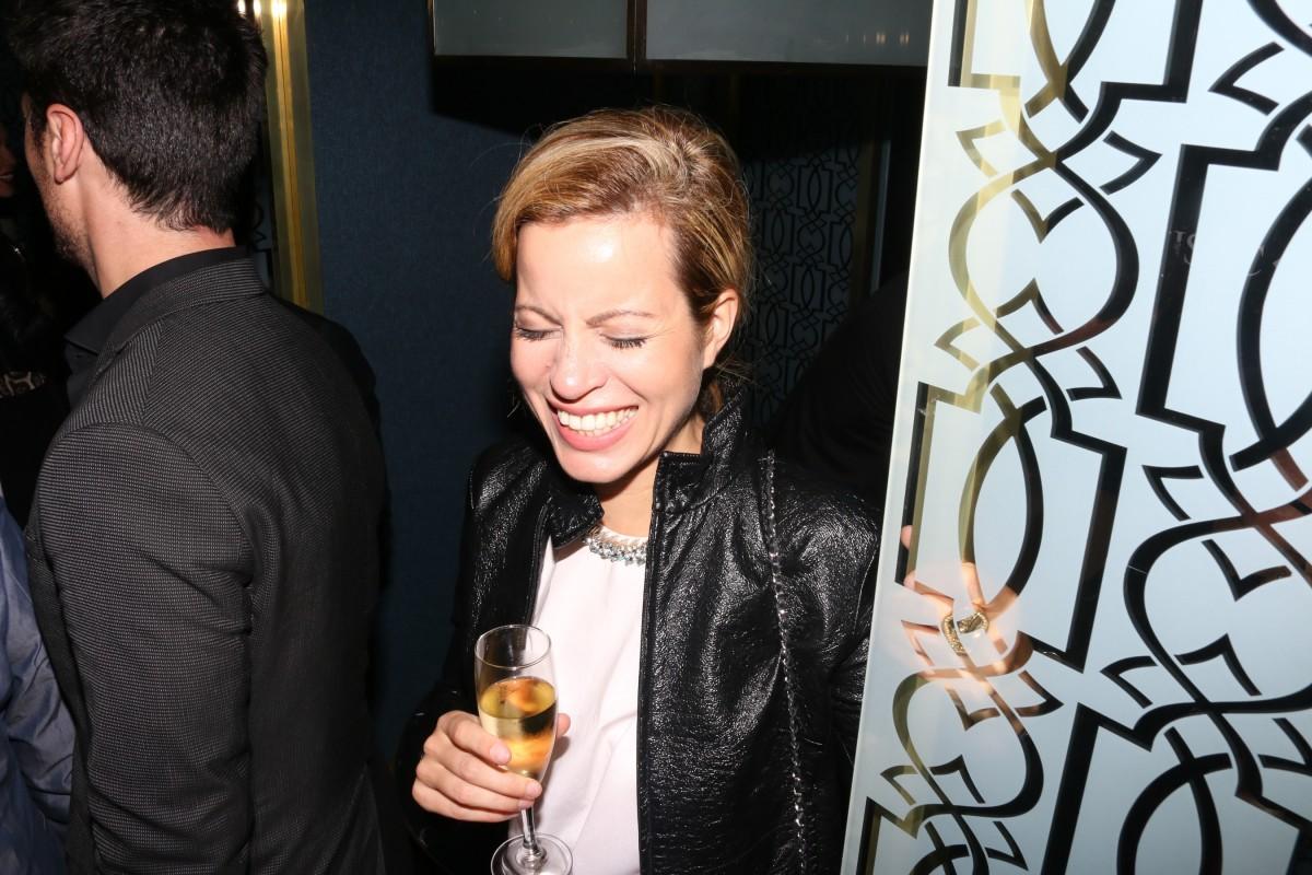Nuria Quintela en la inaugutación del Crystal Bar de Alvear Icon