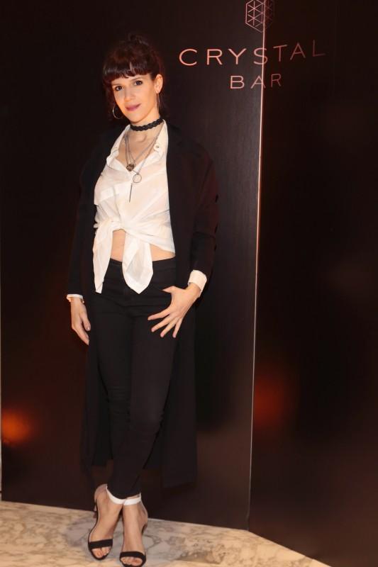 Violeta Urtizberea presente en la inauguración del Crystal Bar en Alvear Icon