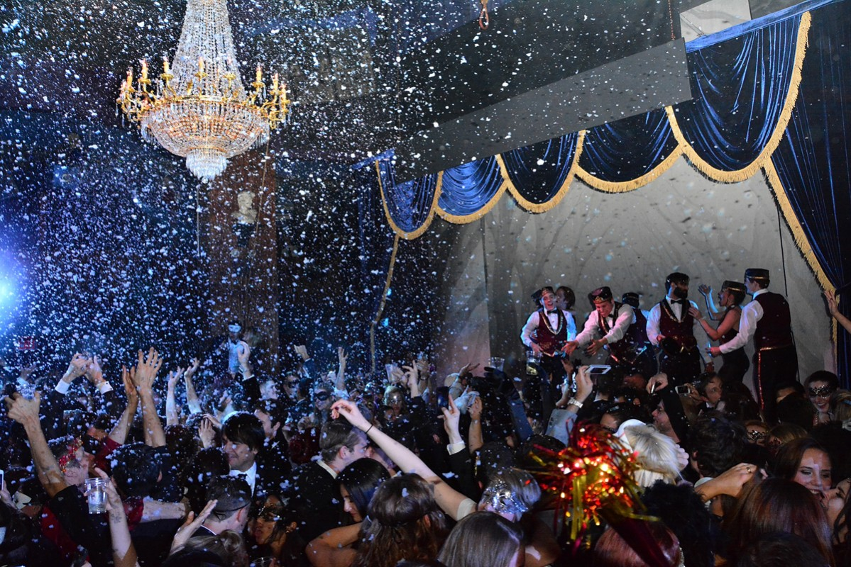 NEW YORK, NY - DECEMBER 31:  A general view of atmosphere during the Sleep No More New Year's Eve 2014 Party at The McKittrick Hotel, home of Sleep No More, on December 31, 2013 in New York City.  (Photo by Brian Killian/Getty Images)