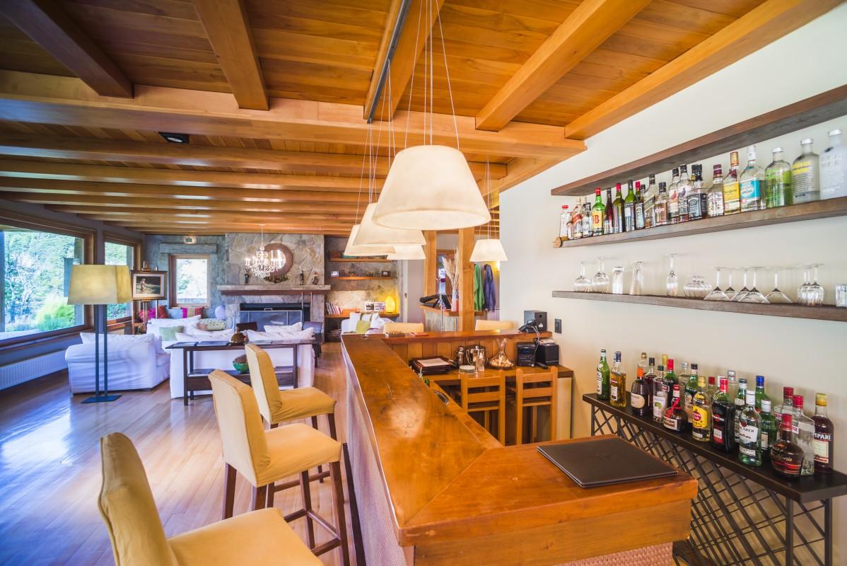 Bar at Rio Hermoso Hotel de Montana, San Martin de los Andes, Neuquen Province, Argentinian Patagonia, Argentina