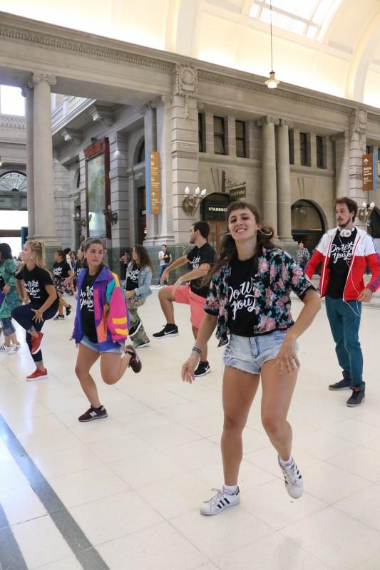 Los Flash Mobs sumaron diversión y dinamismo a la jornada