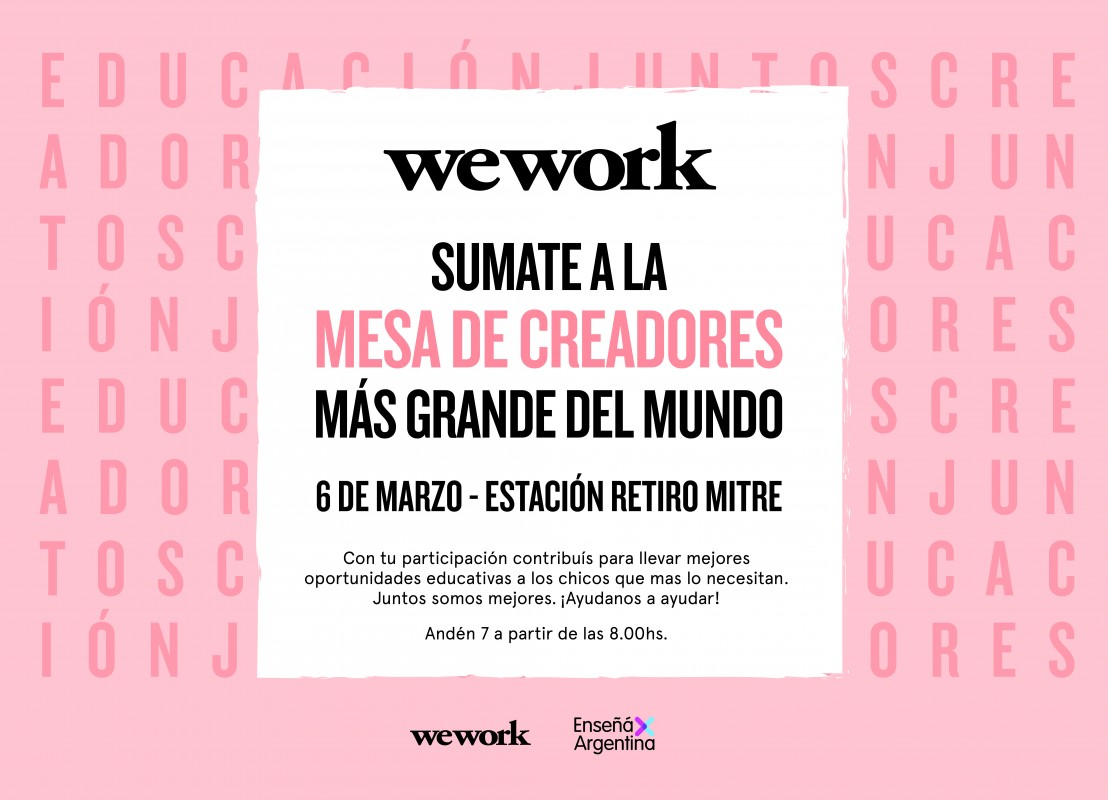 Mesa de Creadores - WeWork Retiro