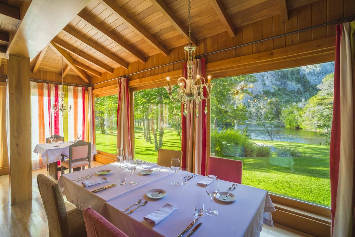 Restaurant at Rio Hermoso Hotel de Montana, San Martin de los Andes, Neuquen Province, Argentinian Patagonia, Argentina