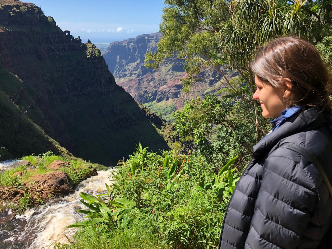 Cascada en el Cañón de Waimea
