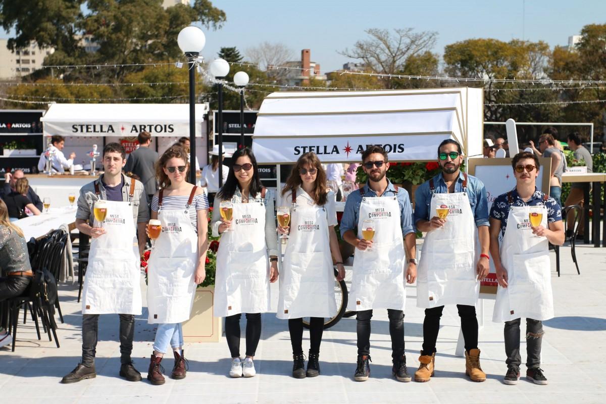 Los chefs de Mesa Compartida en la presentación del ciclo