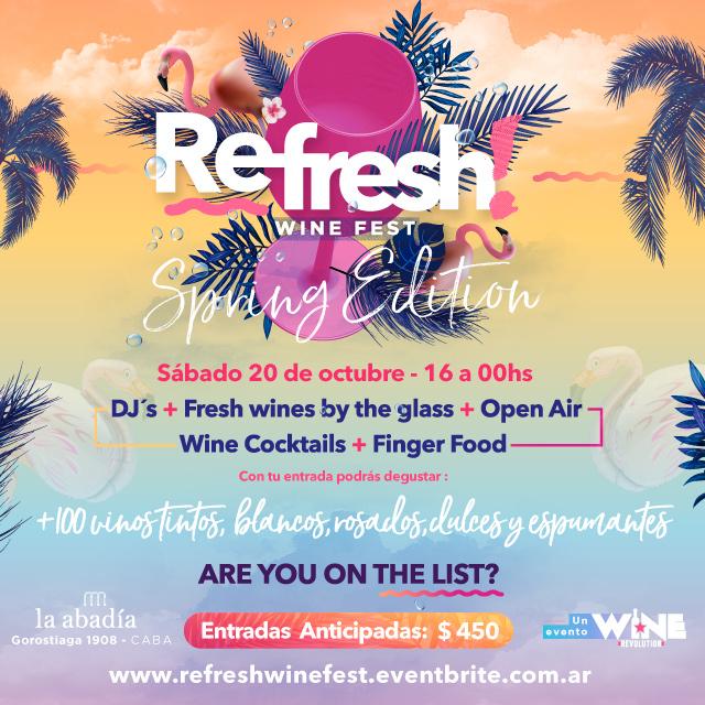 FLYER REFRESH! WINE FEST SPRING EDITION 2018 - IG