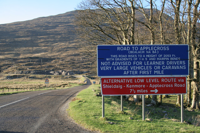 Tornapress-_warnings_about_Bealach_Na_Ba_road._-_geograph.org.uk_-_118574
